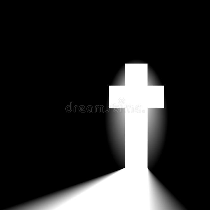 Incrocio cristiano radiante royalty illustrazione gratis