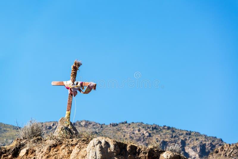 Incrocio del canyon di Colca fotografia stock