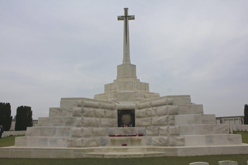 Incrocio del sacrificio, Tyne Cot Cemetery fotografie stock