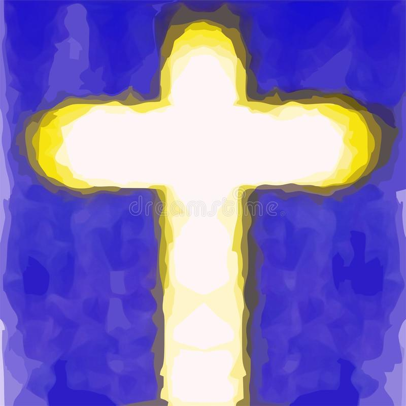 Incrocio del salvatore di Gesù Cristo fotografie stock