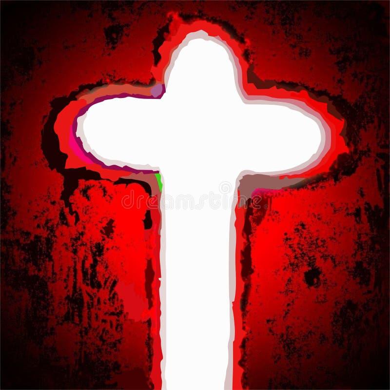 Incrocio del salvatore di Gesù Cristo immagine stock