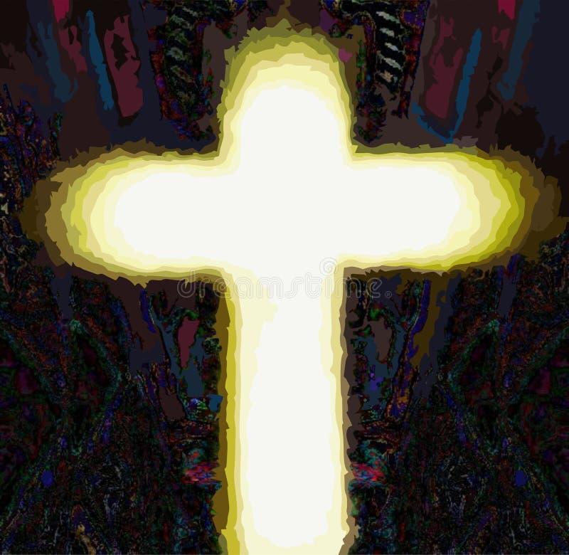 Incrocio del salvatore di Gesù Cristo fotografia stock