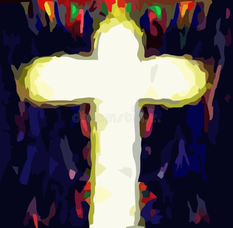 Incrocio del salvatore di Gesù Cristo fotografia stock libera da diritti