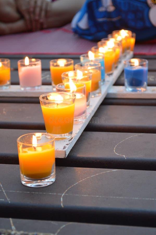 Incrocio della candela fotografia stock libera da diritti