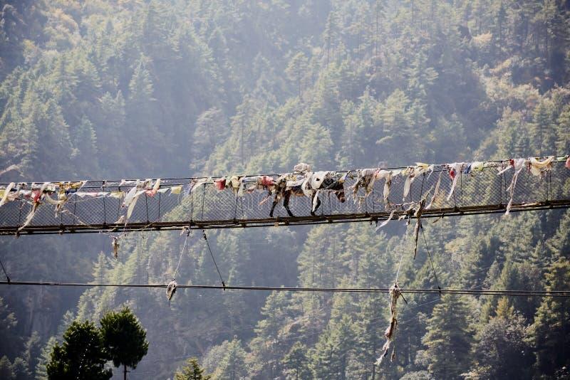 Incrocio di Hors un ponte sospeso d'attaccatura della corda fotografia stock libera da diritti