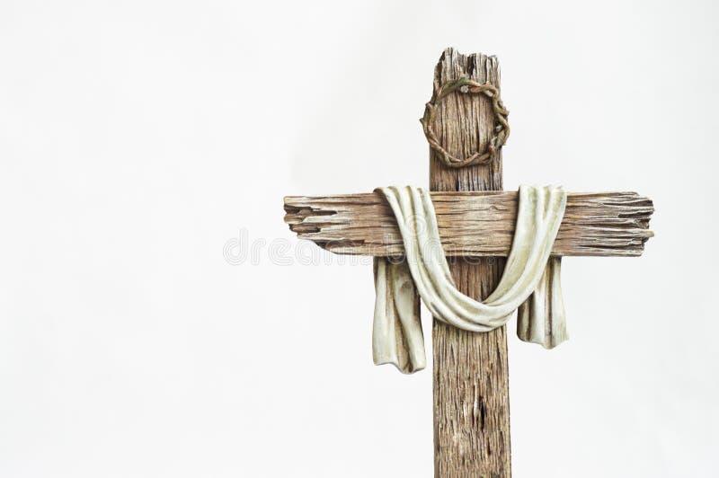 Incrocio di legno di Pasqua immagini stock