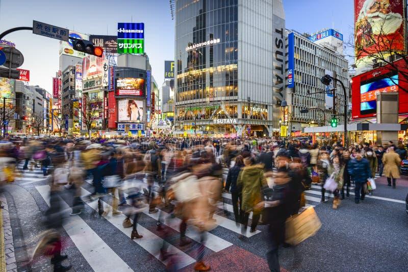 Incrocio di Shibuya fotografie stock