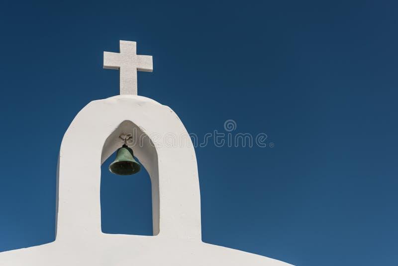 Incrocio e campana della cappella di San Nicola fotografia stock