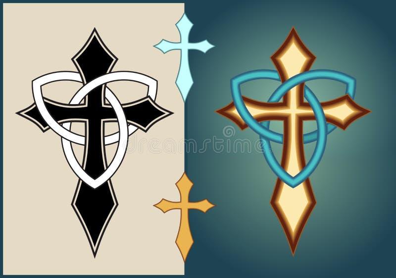Incrocio illuminato celtico royalty illustrazione gratis