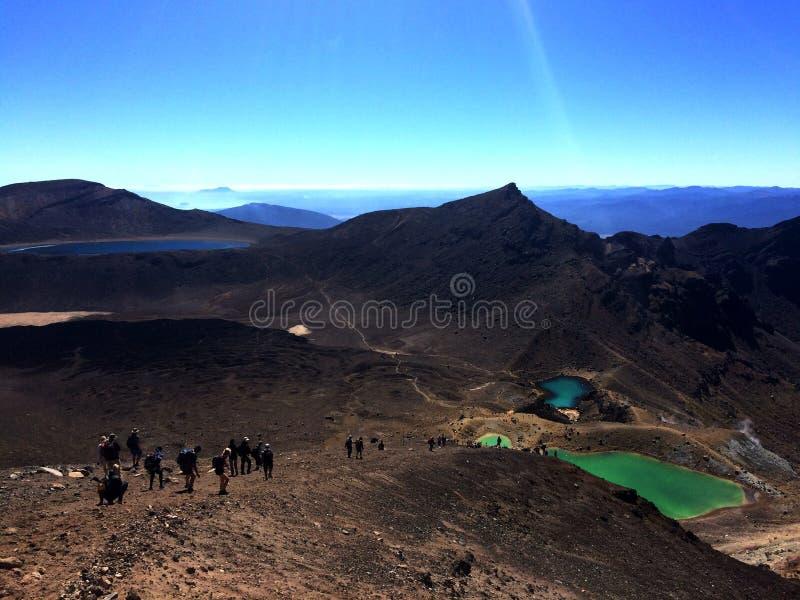 Incrocio Nuova Zelanda di Tongariro fotografie stock libere da diritti