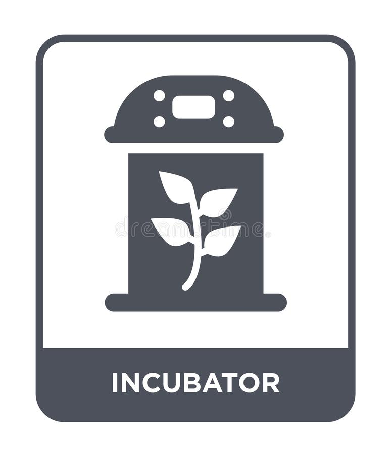 Incubator icon in trendy design style. incubator icon isolated on white background. incubator vector icon simple and modern flat. Symbol for web site, mobile vector illustration