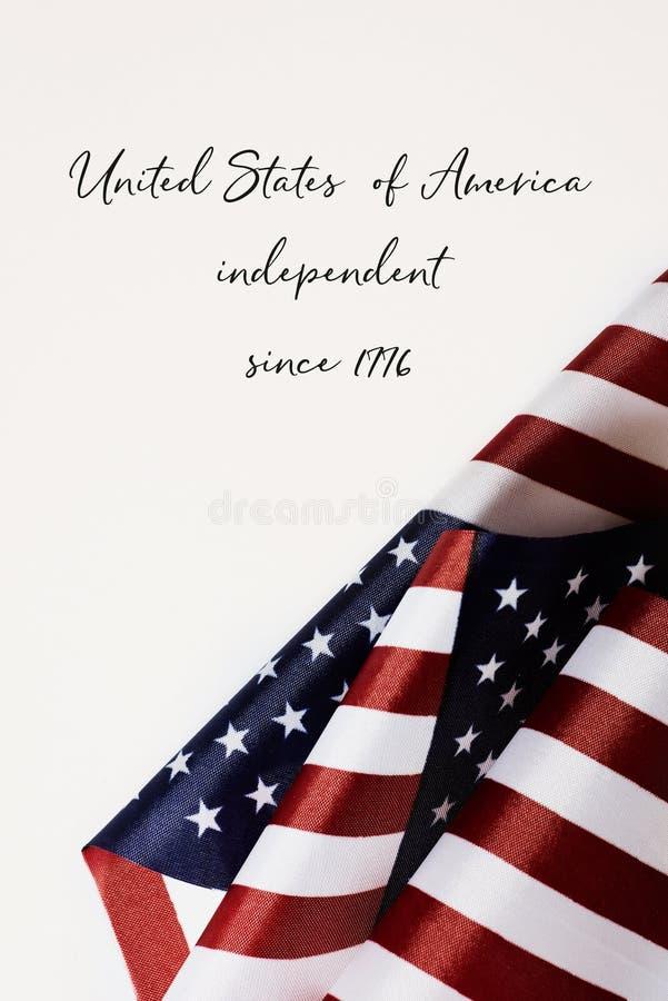 Indépendant des Etats-Unis d'Amérique depuis 1776 image stock