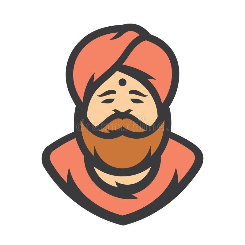 indù L'India Illustrazione del fumetto di vettore illustrazione di stock