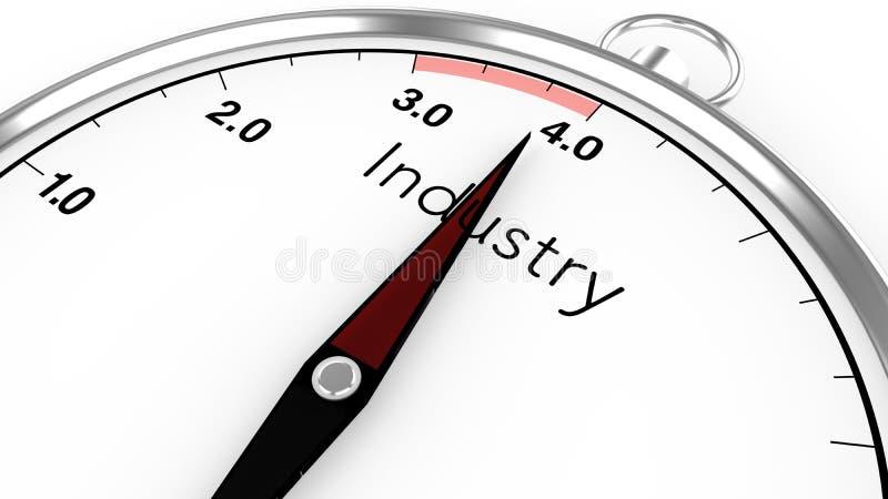 Indústria 4 0 conceitos do compasso ilustração royalty free