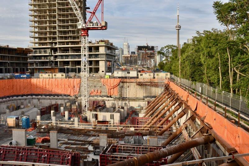 Indústria de construção de habitações crescendo em Toronto fotos de stock royalty free