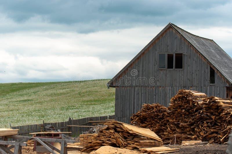 Indústria de madeira ao ar livre imagens de stock