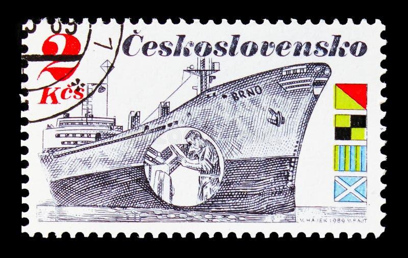Indústria de transporte - Brno, serie marítimo Czechoslovak do transporte, foto de stock royalty free