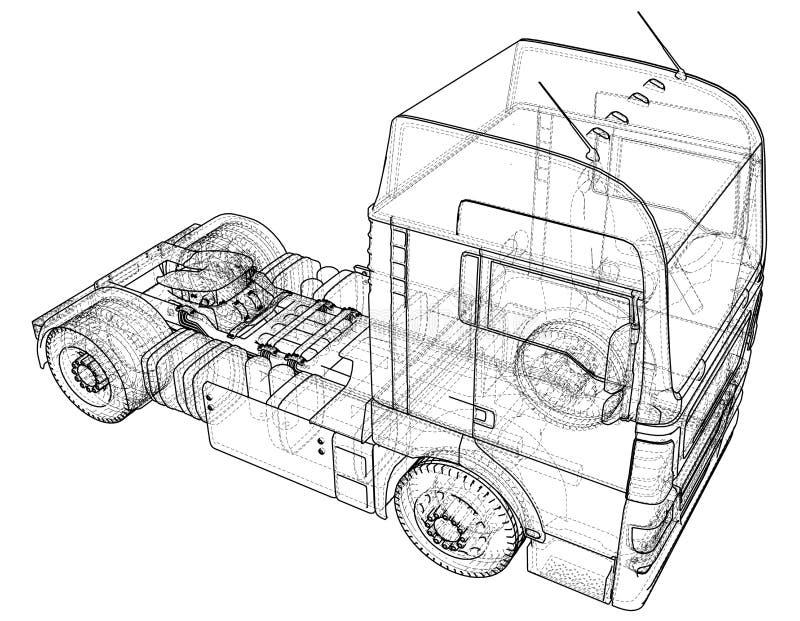 Indústria de transporte, transporte da logística e fio comercial do conceito do negócio industrial de transporte de frete da carg ilustração stock