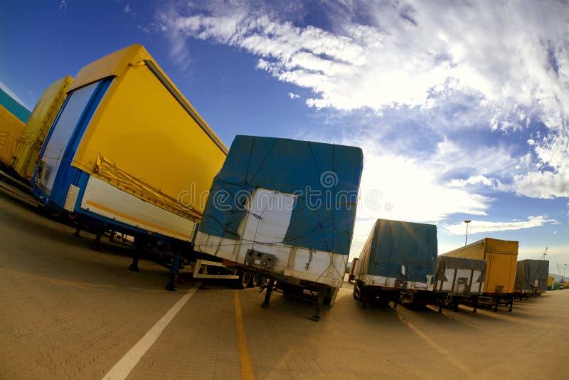 Indústria de transporte por caminhão fotografia de stock royalty free