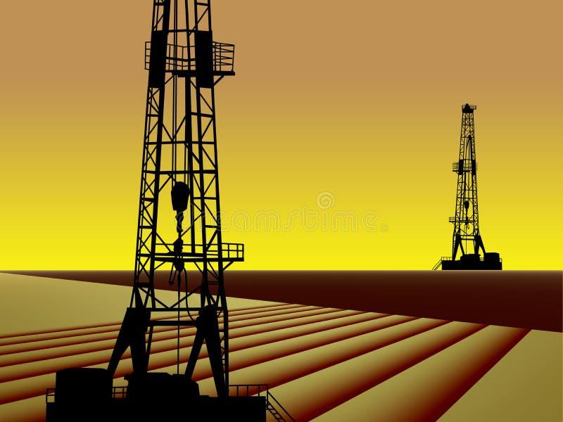Indústria do gás do petróleo ilustração royalty free