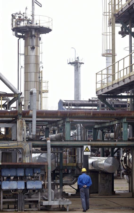 Indústria do petróleo e da nafta fotografia de stock royalty free