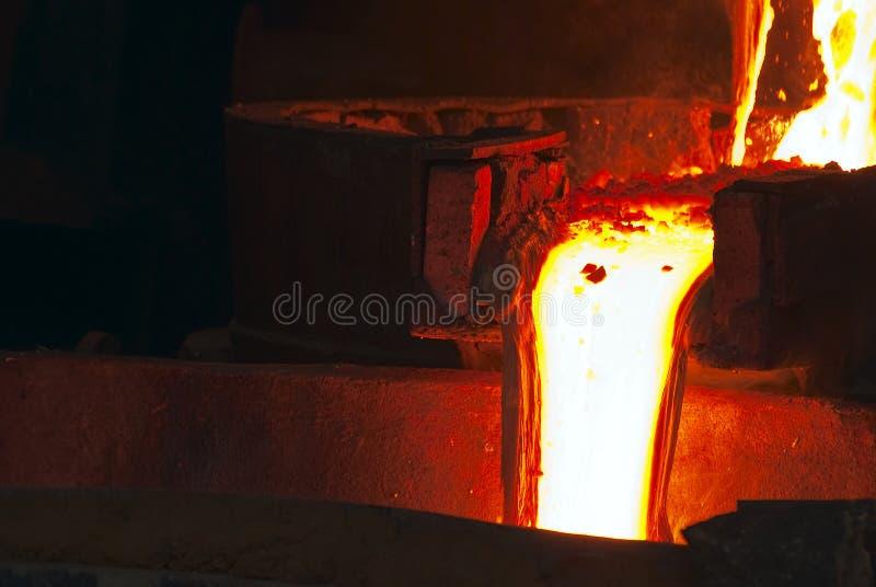 Indústria do Smelting foto de stock royalty free