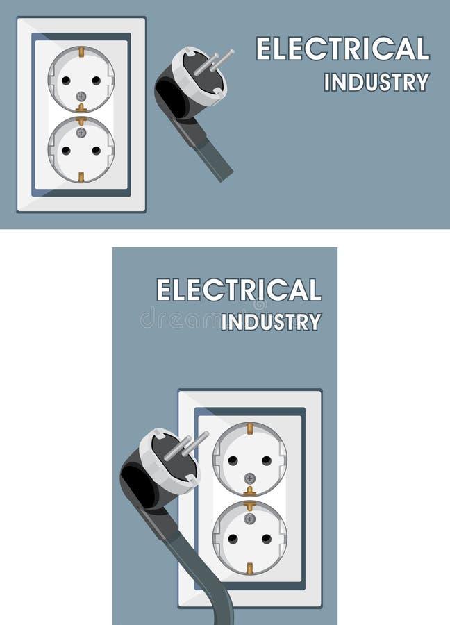 Download Indústria Elétrica. Duas Bandeiras Para O Projeto Ilustração do Vetor - Ilustração de elétrico, casa: 29845201