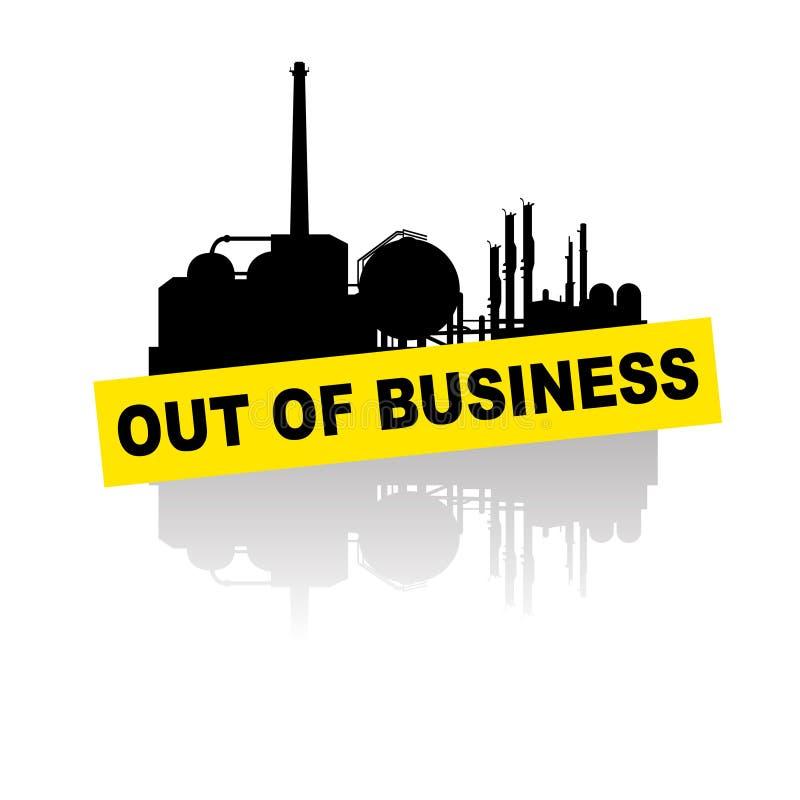 Indústria fora do negócio pela crise ilustração royalty free