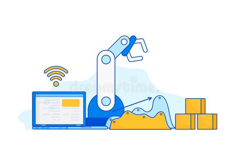 Indústria 4 0, Internet das coisas ilustração royalty free