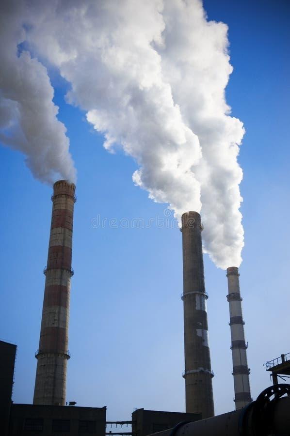 Indústria ou ecologia da fábrica imagem de stock royalty free