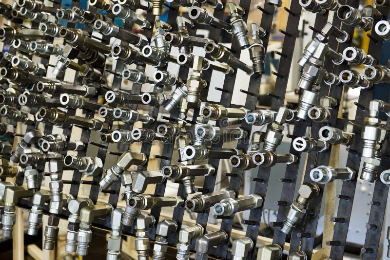 Indústria, peças de fabricação, fundo industrial fotografia de stock royalty free