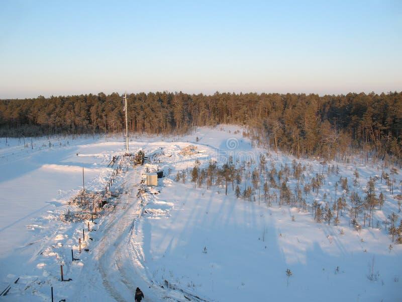 Indústria petroleira fotografia de stock