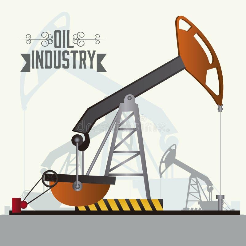 Indústria petroleira ilustração royalty free