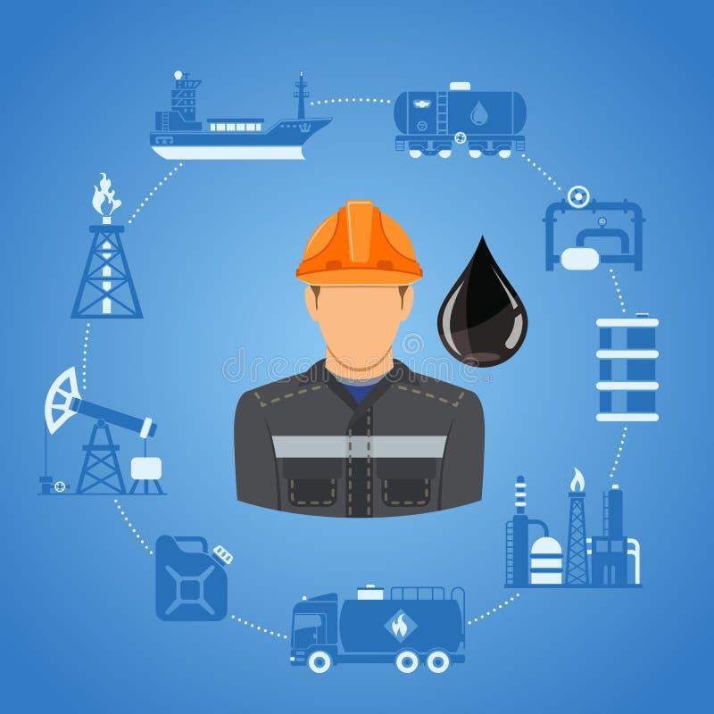 Indústria petroleira Infographics ilustração stock