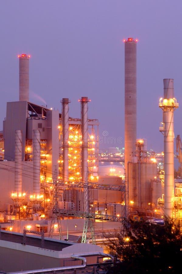 Indústria petroquímica foto de stock