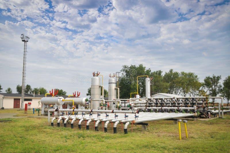 Indústrias da refinação e do gás de petróleo foto de stock royalty free