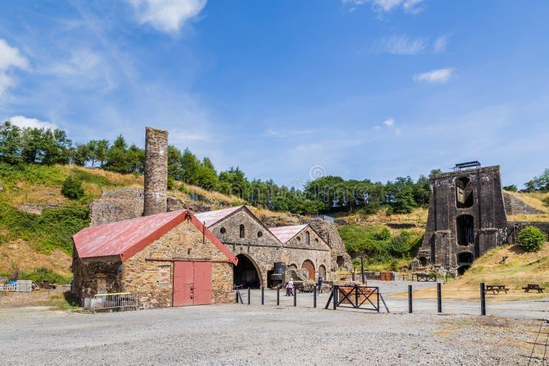Indústrias siderúrgicas de Blaenavon em Gales, Reino Unido imagens de stock