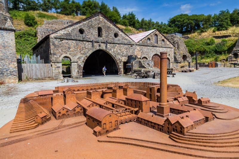 Indústrias siderúrgicas de Blaenavon em Gales, Reino Unido foto de stock royalty free