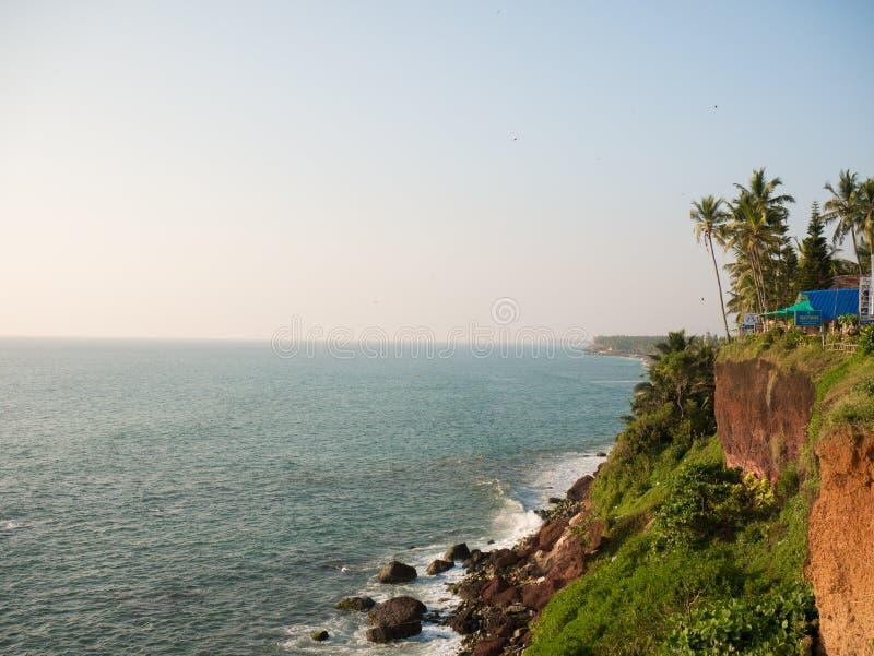 ind Kerala varkala fotografia stock