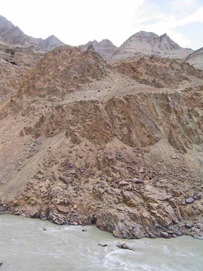 ind ladakh gór rzeki dolina obraz royalty free