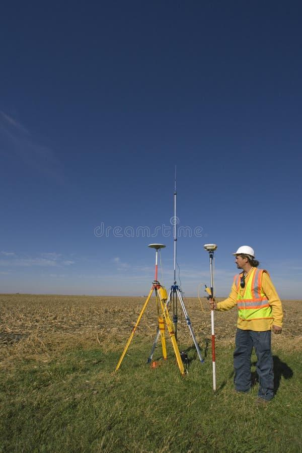 Indagine di GPS fotografia stock