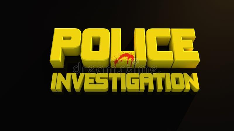 Indagine Di Polizia Fotografie Stock Libere da Diritti