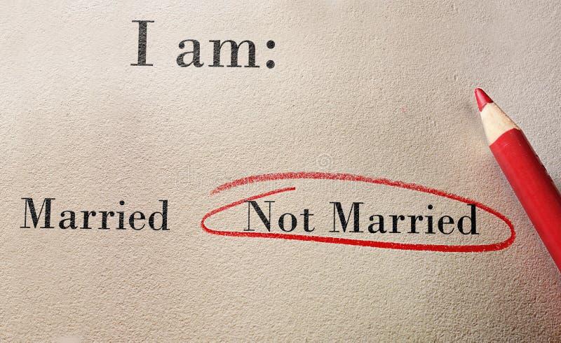 Indagine non sposata fotografia stock libera da diritti