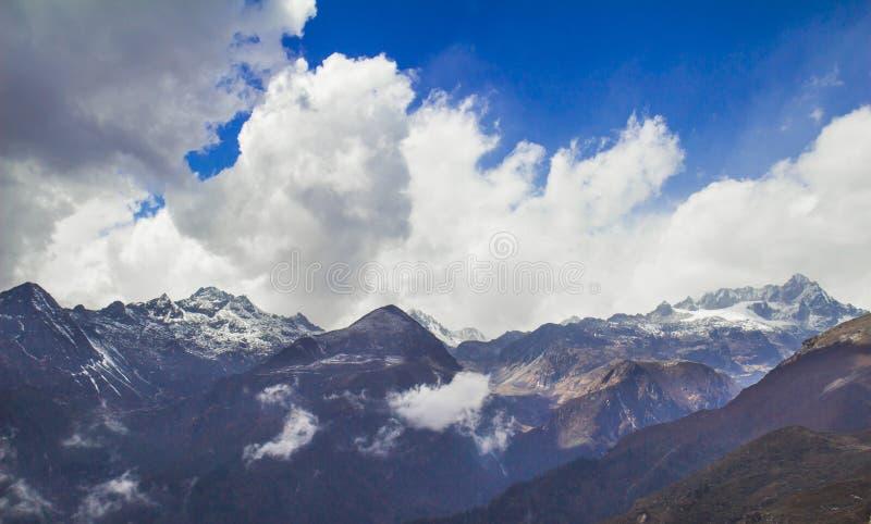 Indai van Dzongri toneelsikkim royalty-vrije stock foto's