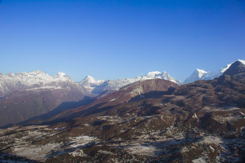 Indai van Dzongri toneelsikkim stock afbeeldingen