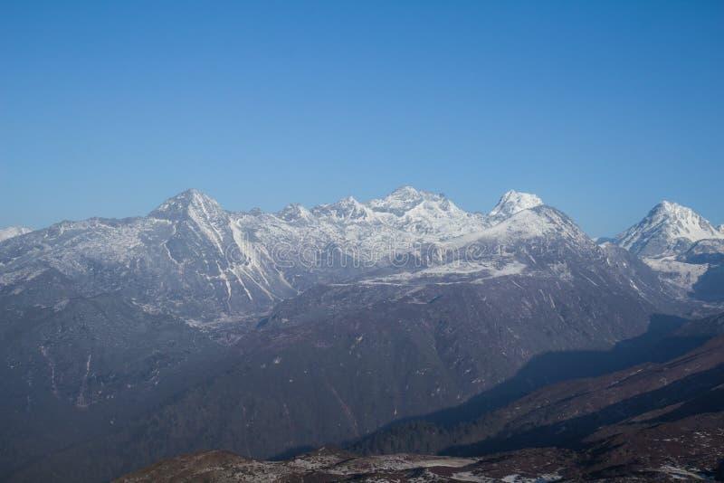 Indai van Dzongri toneelsikkim stock foto's