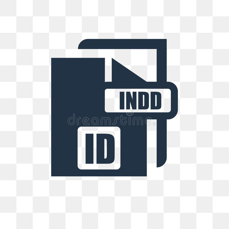 Indd vector icon isolated on transparent background, Indd trans. Parency concept can be used web and mobile, Indd icon royalty free illustration