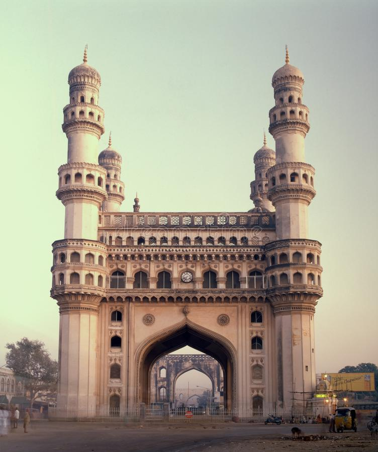 Inde célèbre de Charminar de point de repère de Hyderabad photographie stock libre de droits