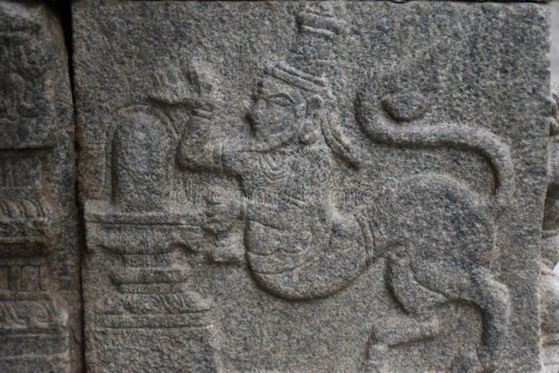 Inde de Lepakshi de temple de Veerabhadra images stock