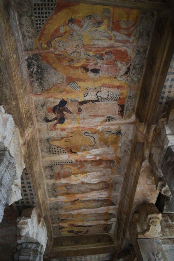 Inde de Lepakshi de temple de Veerabhadra image libre de droits